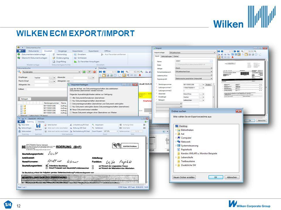 Wilken ecm EXPORT/IMPORT