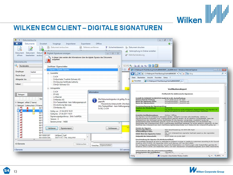 Wilken ecm CLIENT – DIGITALE SIGNATUREN
