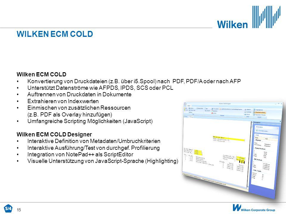 Wilken ecm COLD Wilken ECM COLD