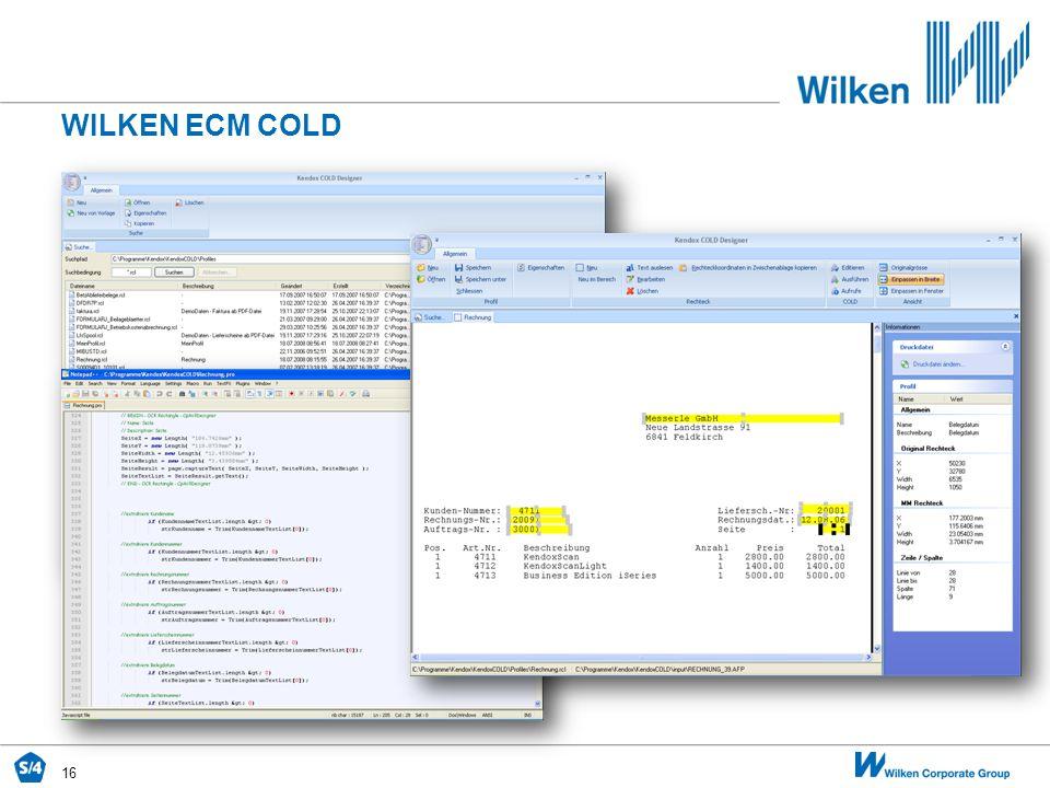 Wilken ecm COLD