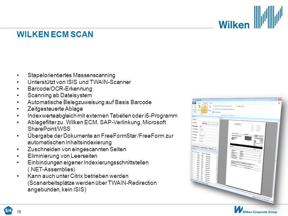 Wilken ecm SCAN Stapelorientiertes Massenscanning