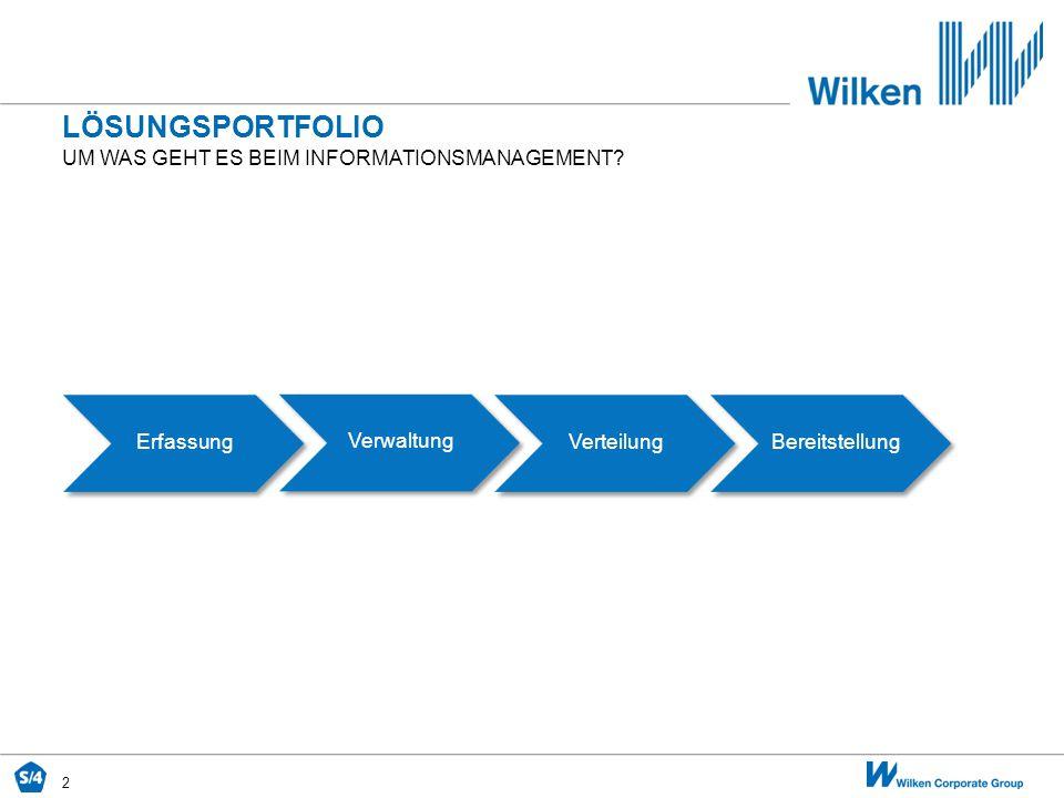 Lösungsportfolio um was geht es beim Informationsmanagement Erfassung