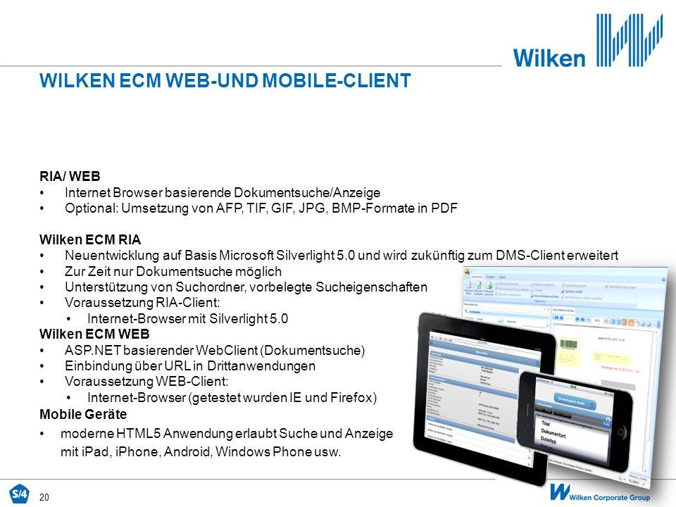 Wilken ecm WEB-und mobile-CLIENT