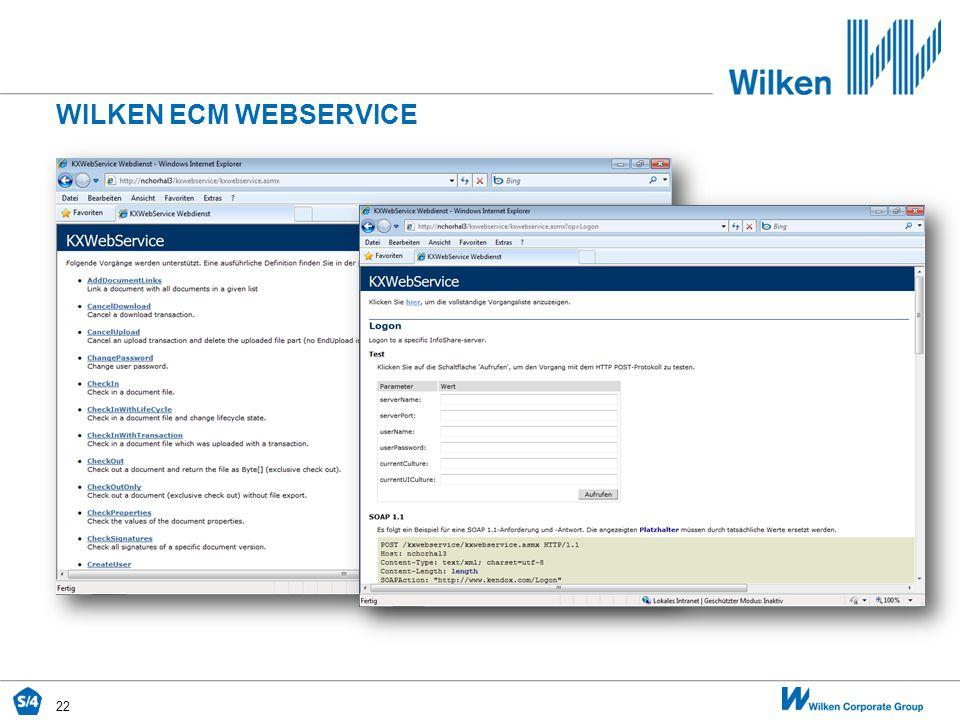 WILKEN ECM WEBSERVICE