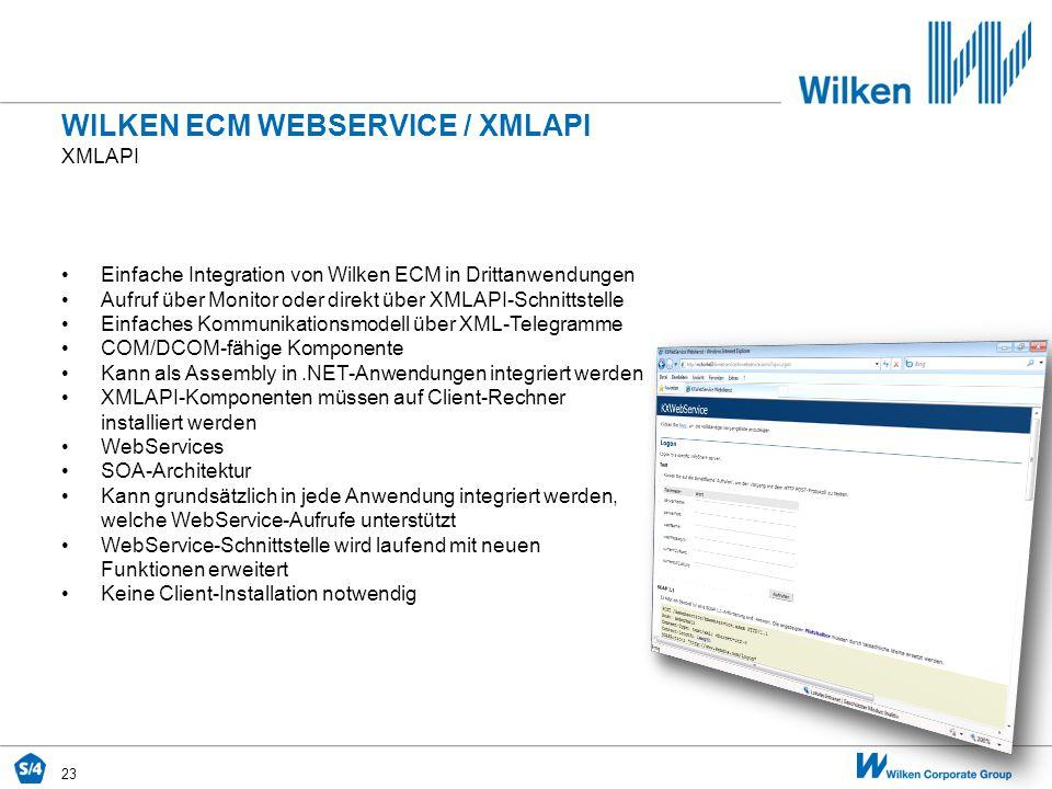 WILKEN ECM WEBSERVICE / XMLAPI