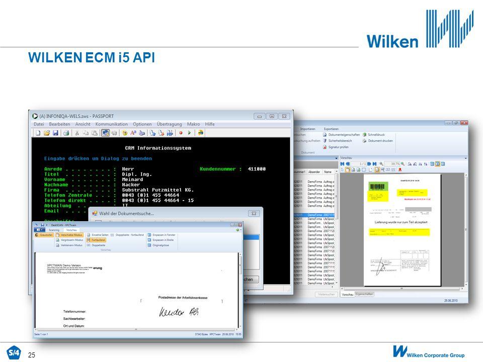 WILKEN ECM i5 API 25