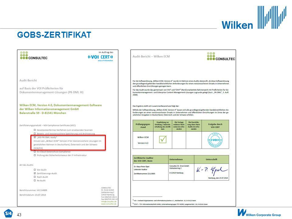Gobs-zertifikat