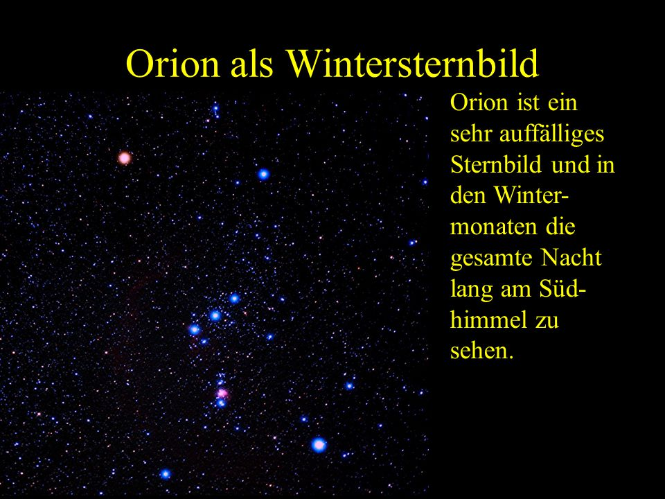 Orion als Wintersternbild