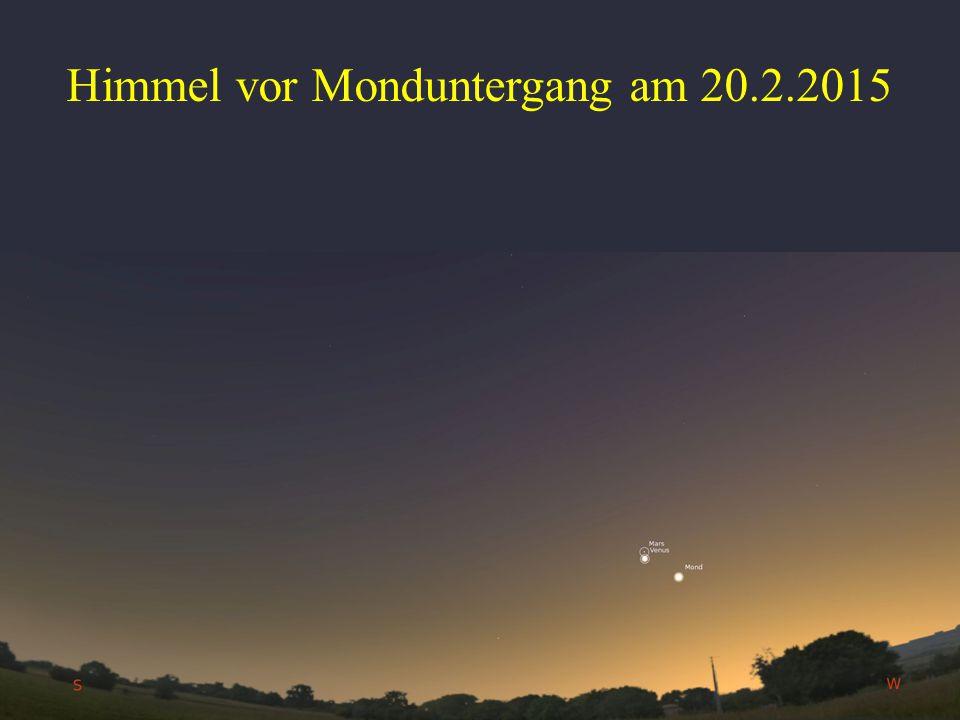 Himmel vor Monduntergang am 20.2.2015