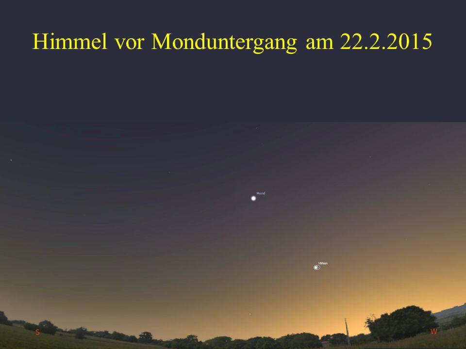 Himmel vor Monduntergang am 22.2.2015