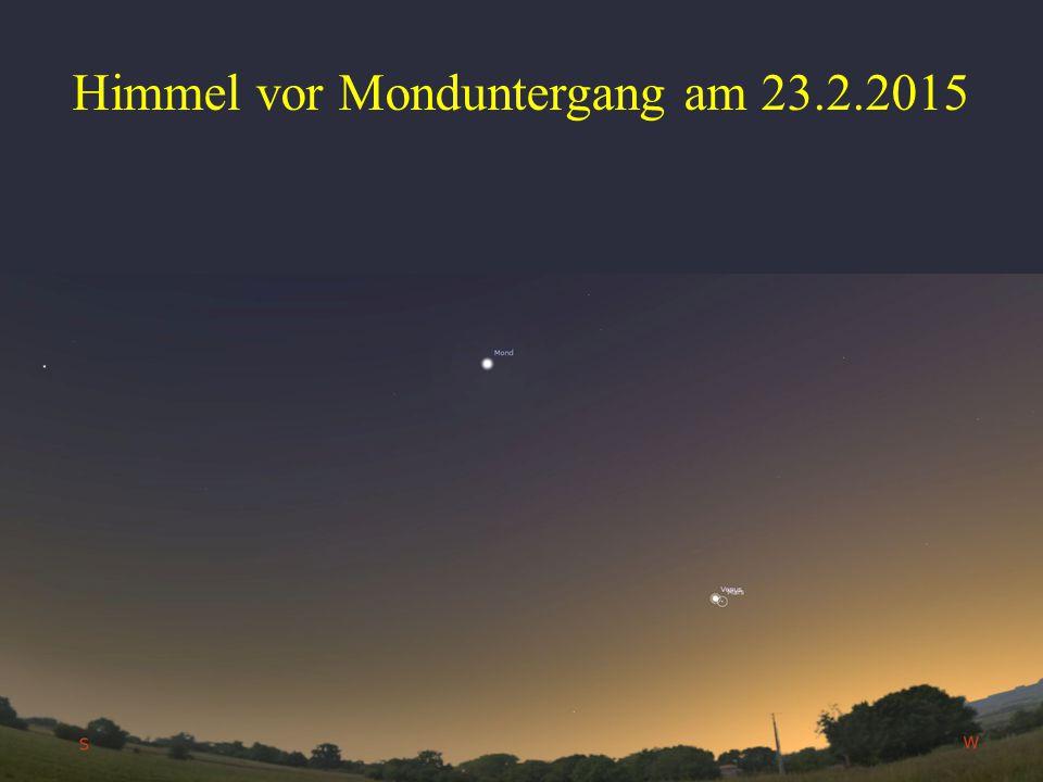 Himmel vor Monduntergang am 23.2.2015