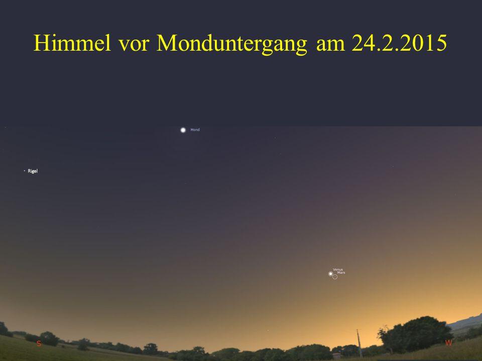 Himmel vor Monduntergang am 24.2.2015