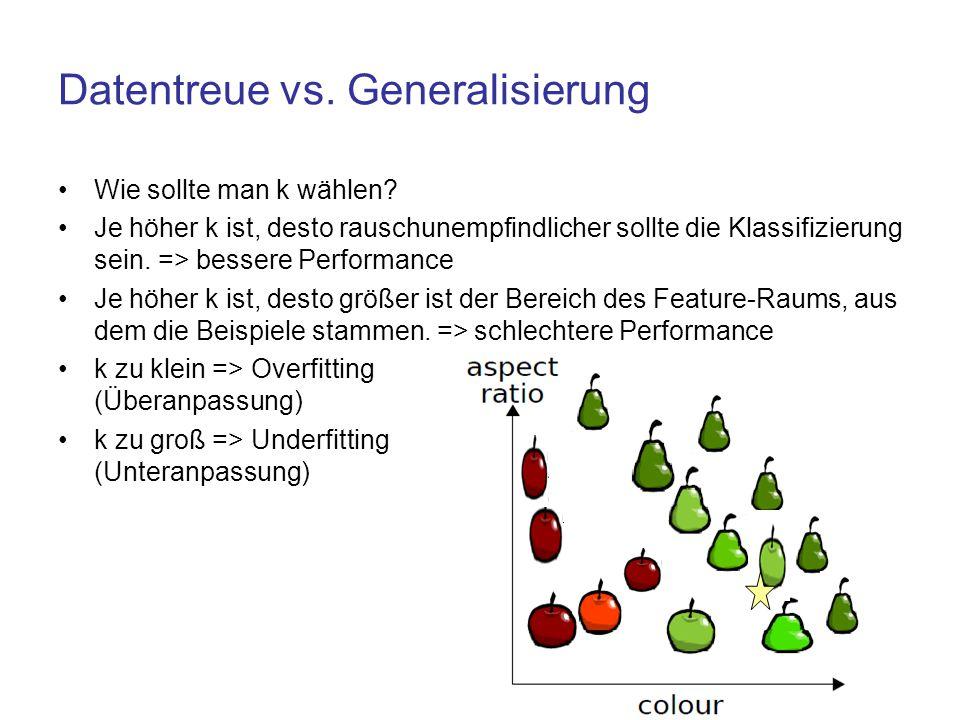 Datentreue vs. Generalisierung