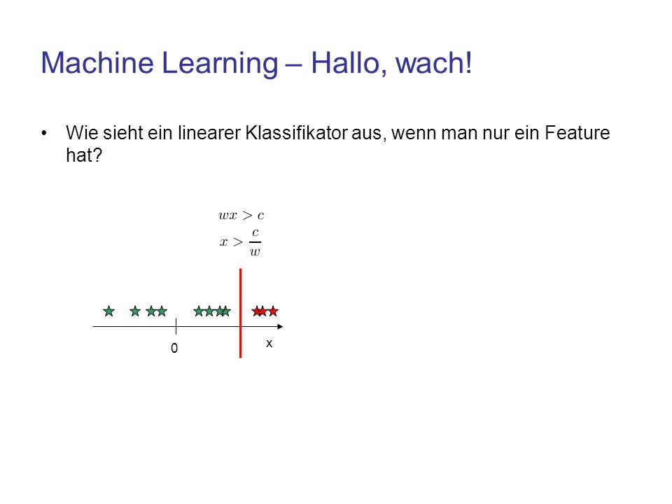 Machine Learning – Hallo, wach!