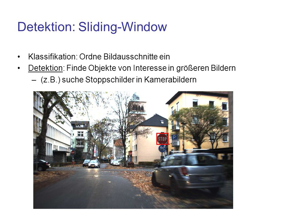 Detektion: Sliding-Window
