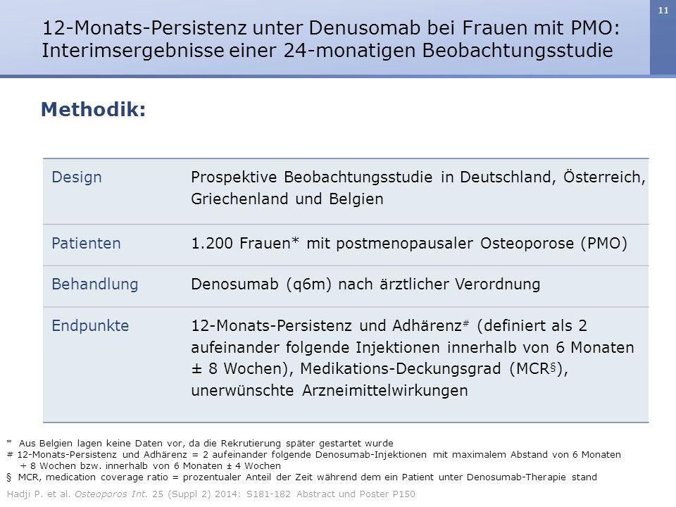 12-Monats-Persistenz unter Denusomab bei Frauen mit PMO: Interimsergebnisse einer 24-monatigen Beobachtungsstudie
