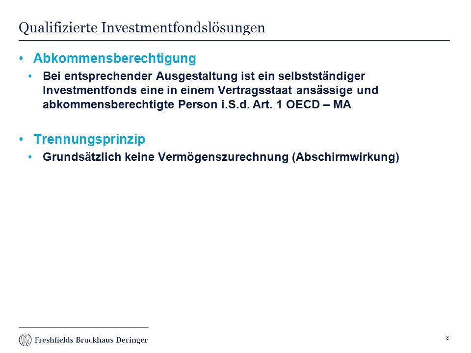 Qualifizierte Investmentfondslösungen
