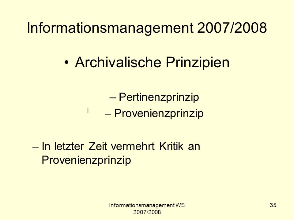 Informationsmanagement 2007/2008