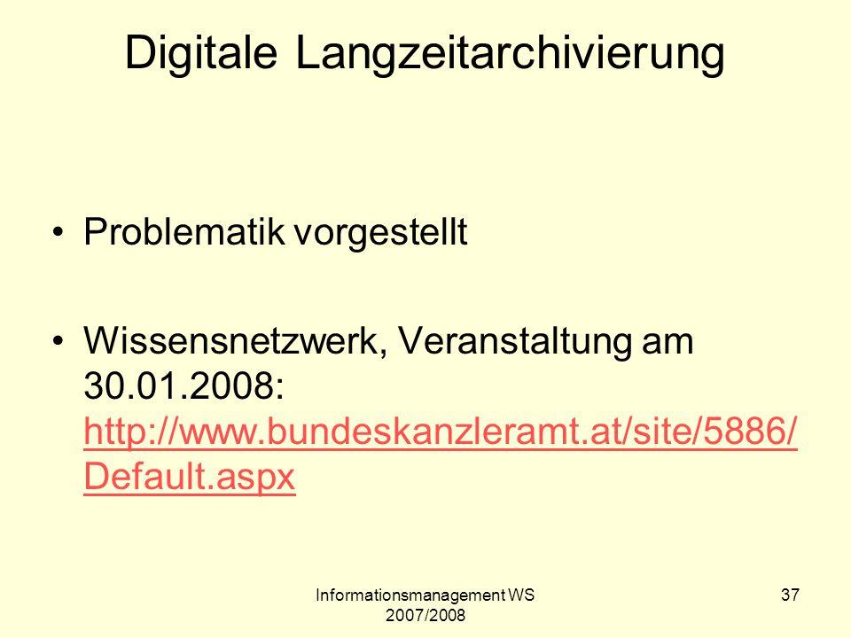Digitale Langzeitarchivierung