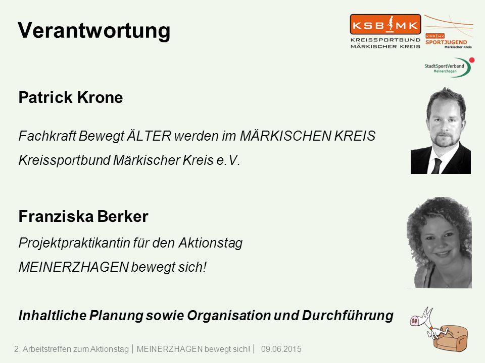 Verantwortung Patrick Krone Franziska Berker