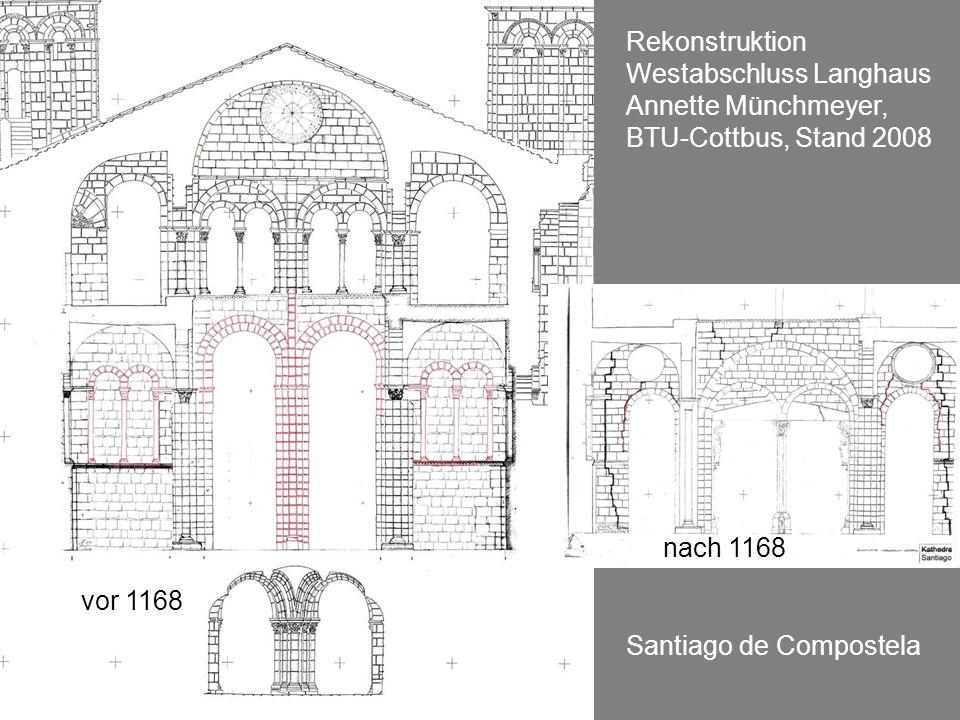 Rekonstruktion Westabschluss Langhaus Annette Münchmeyer, BTU-Cottbus, Stand 2008. nach 1168. vor 1168.