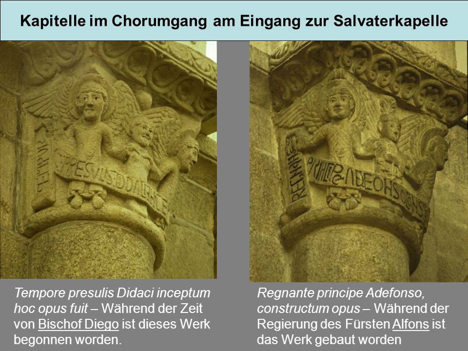 Kapitelle im Chorumgang am Eingang zur Salvaterkapelle