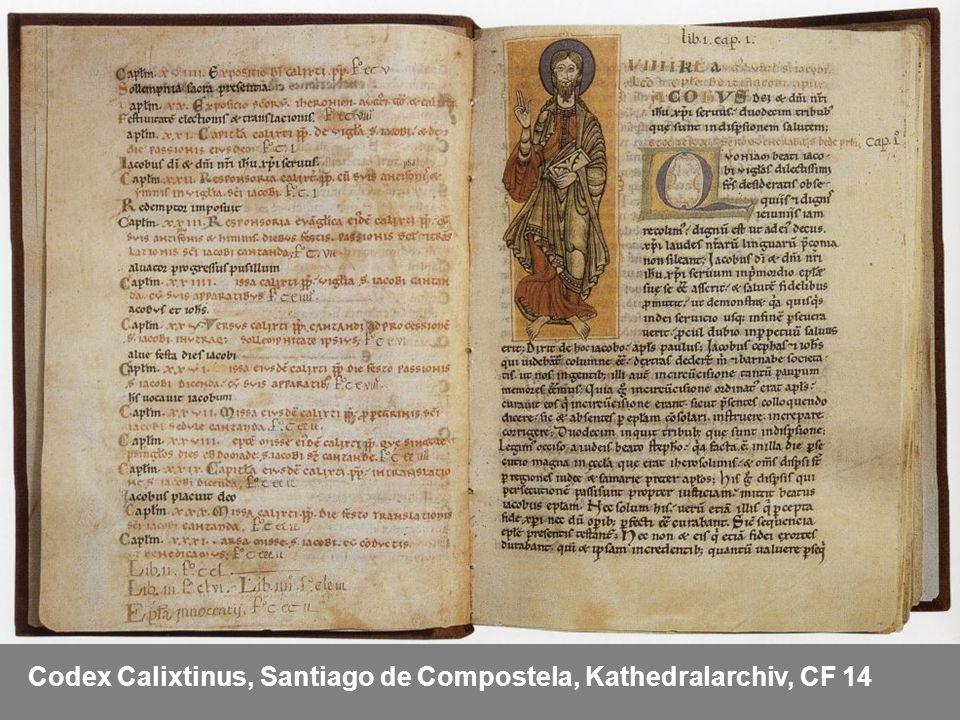 Codex Calixtinus, Santiago de Compostela, Kathedralarchiv, CF 14