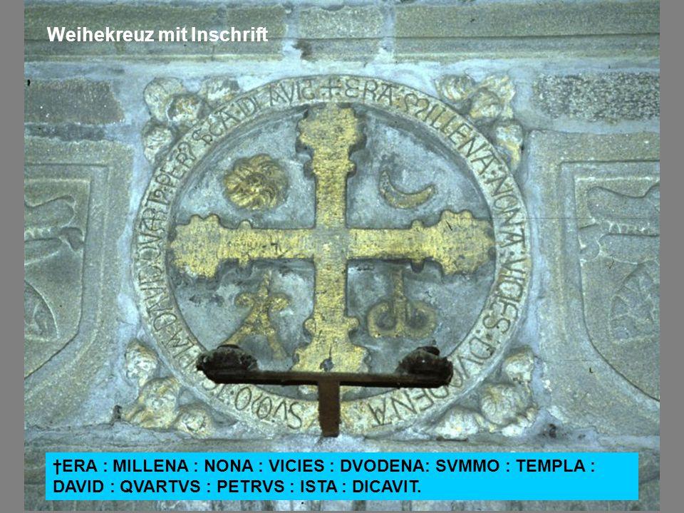 Weihekreuz mit Inschrift