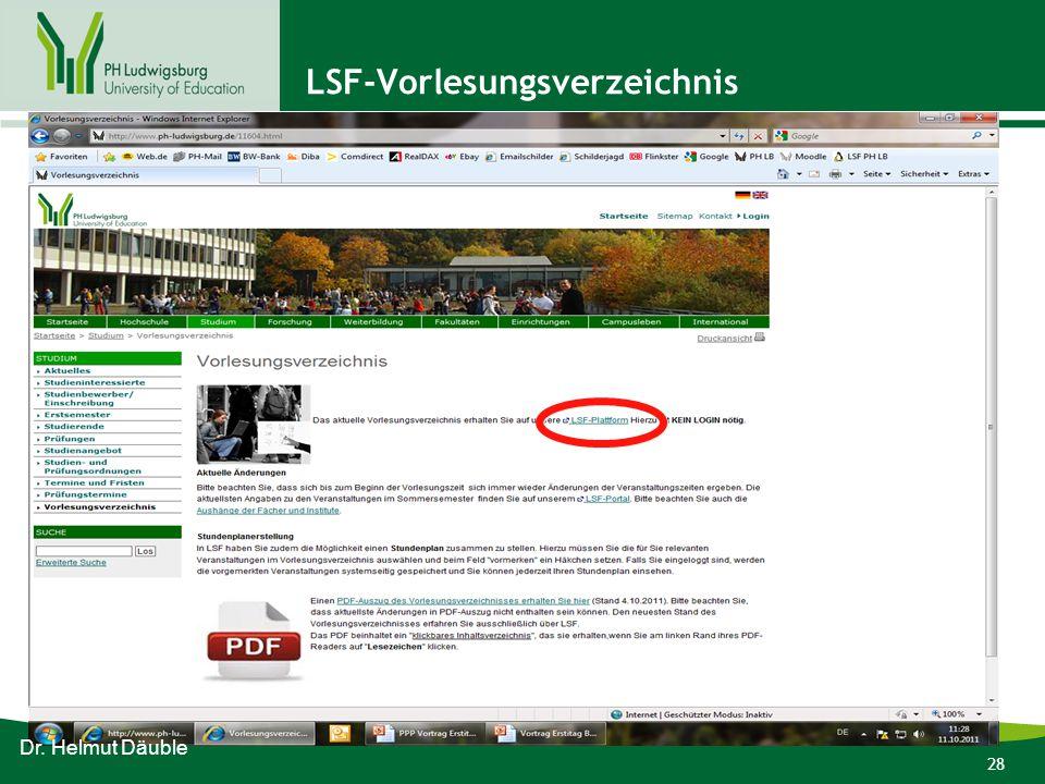 LSF-Vorlesungsverzeichnis