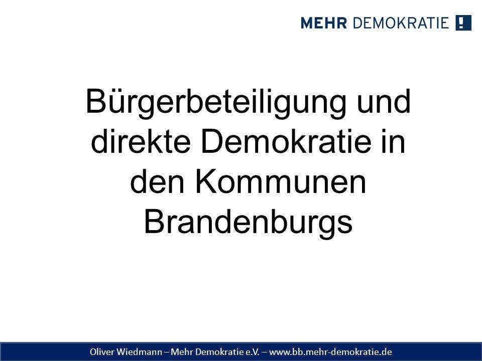 Bürgerbeteiligung und direkte Demokratie in den Kommunen Brandenburgs