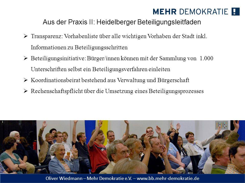Aus der Praxis II: Heidelberger Beteiligungsleitfaden