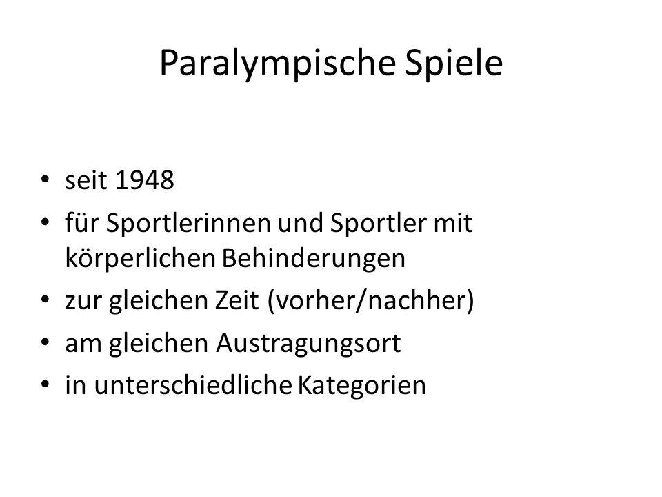Paralympische Spiele seit 1948