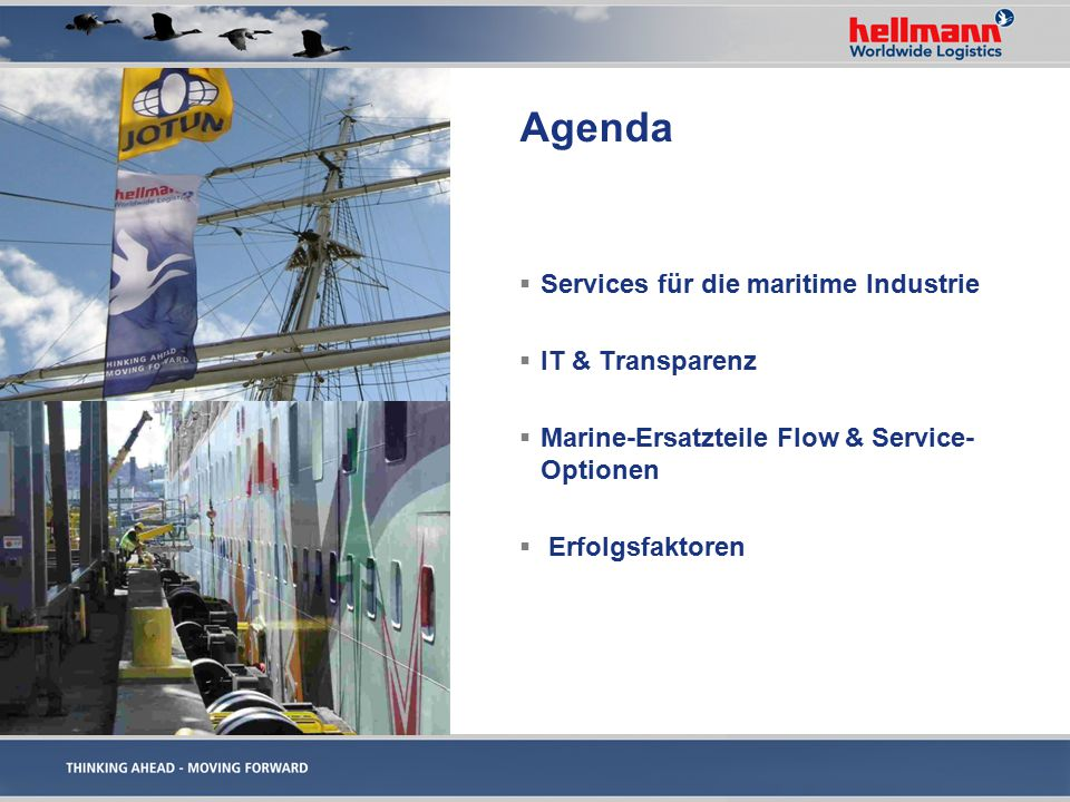Agenda Services für die maritime Industrie IT & Transparenz