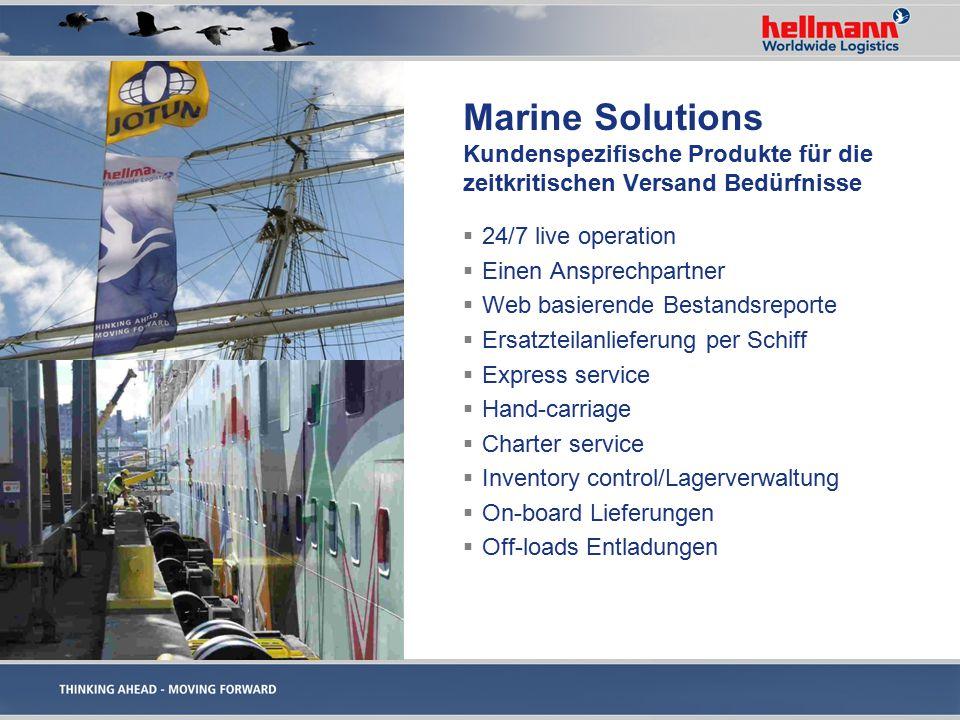 Marine Solutions Kundenspezifische Produkte für die zeitkritischen Versand Bedürfnisse