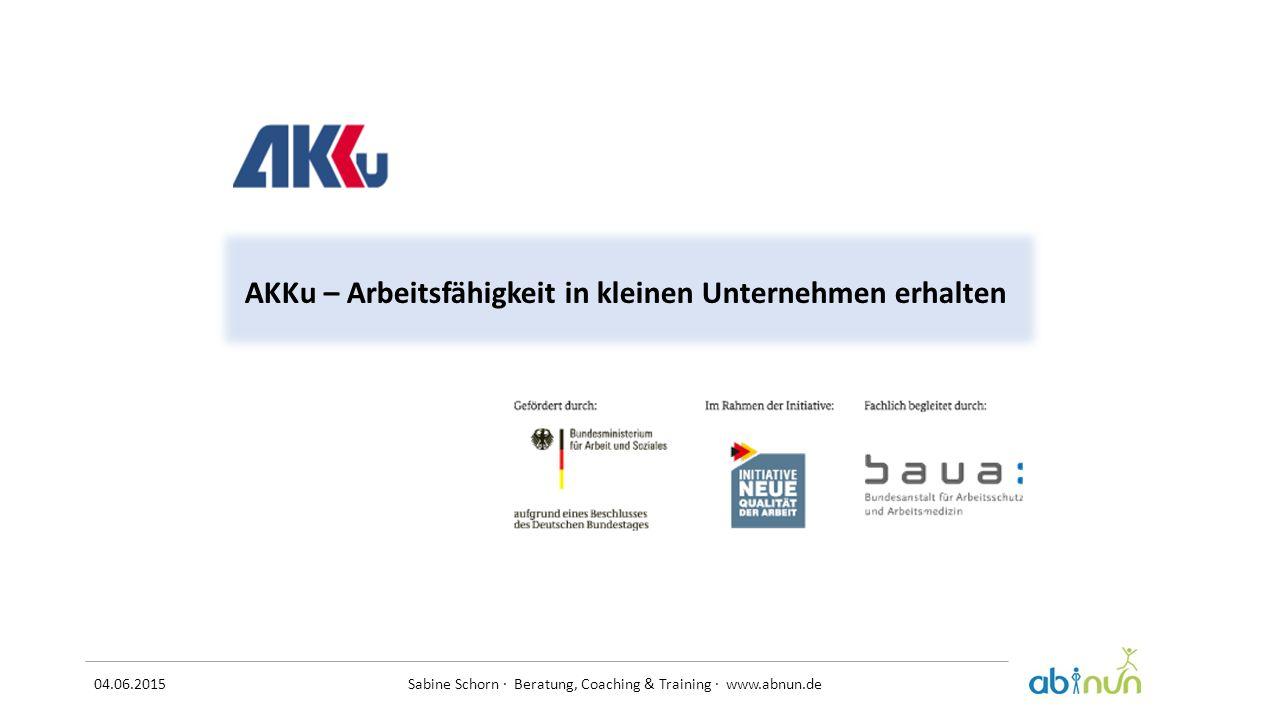 AKKu – Arbeitsfähigkeit in kleinen Unternehmen erhalten