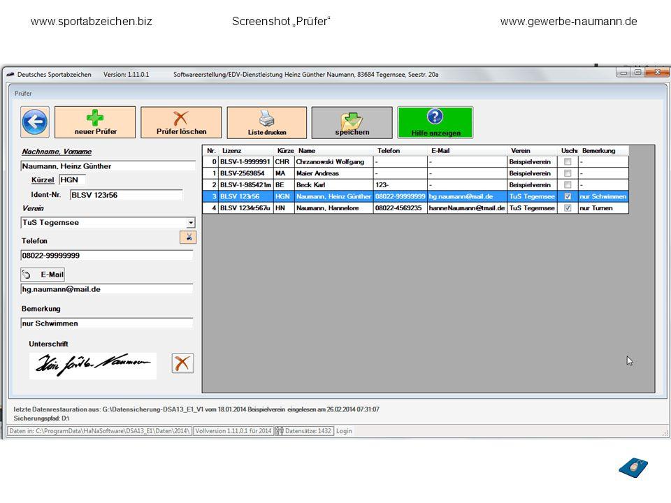 "www.sportabzeichen.biz Screenshot ""Prüfer www.gewerbe-naumann.de"