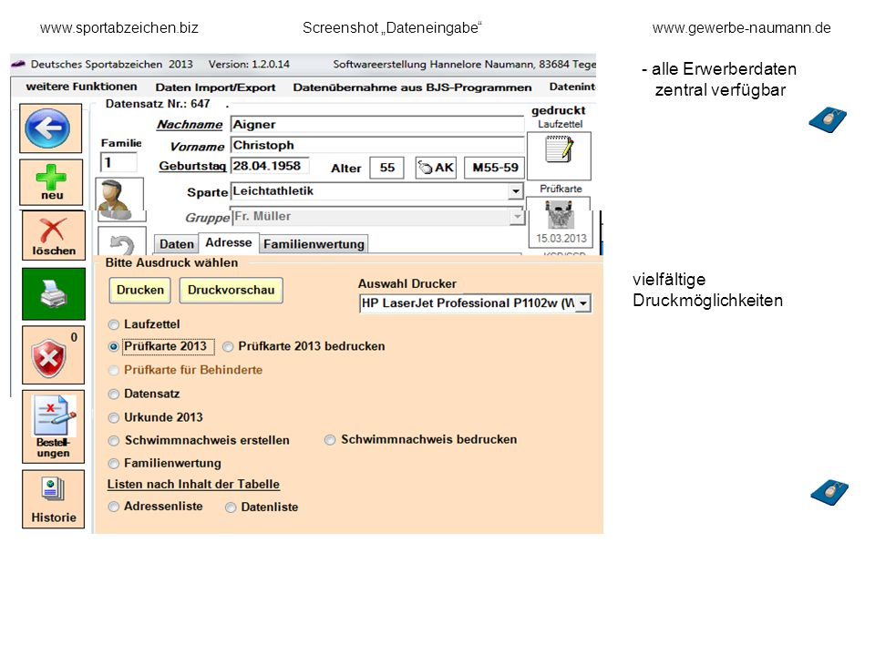 alle Erwerberdaten zentral verfügbar
