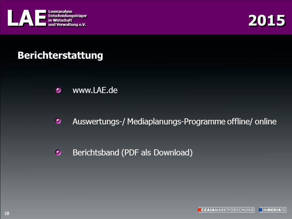 Berichterstattung www.LAE.de