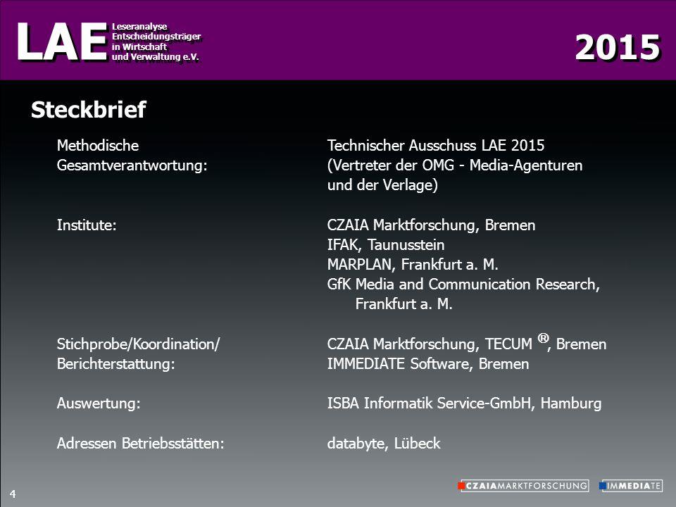 Steckbrief Methodische Technischer Ausschuss LAE 2015