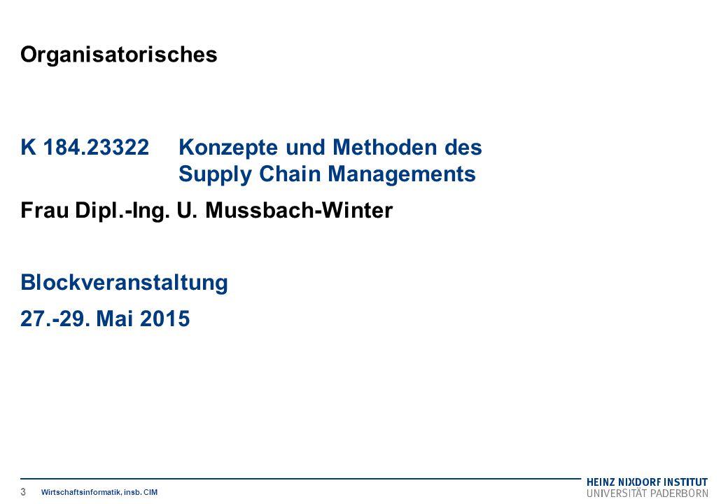 K 184.23322 Konzepte und Methoden des Supply Chain Managements