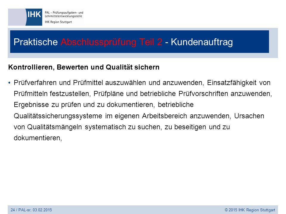 Praktische Abschlussprüfung Teil 2 - Kundenauftrag