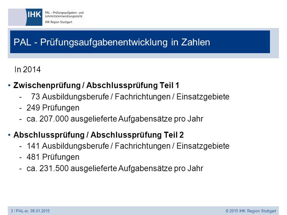 PAL - Prüfungsaufgabenentwicklung in Zahlen