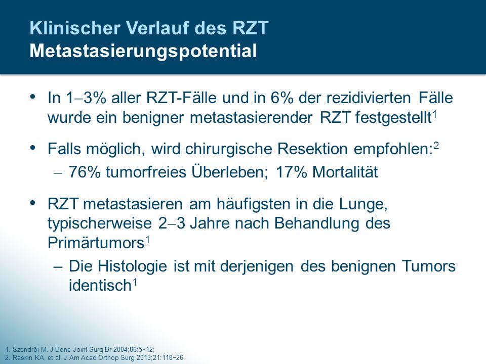 Klinischer Verlauf des RZT Metastasierungspotential