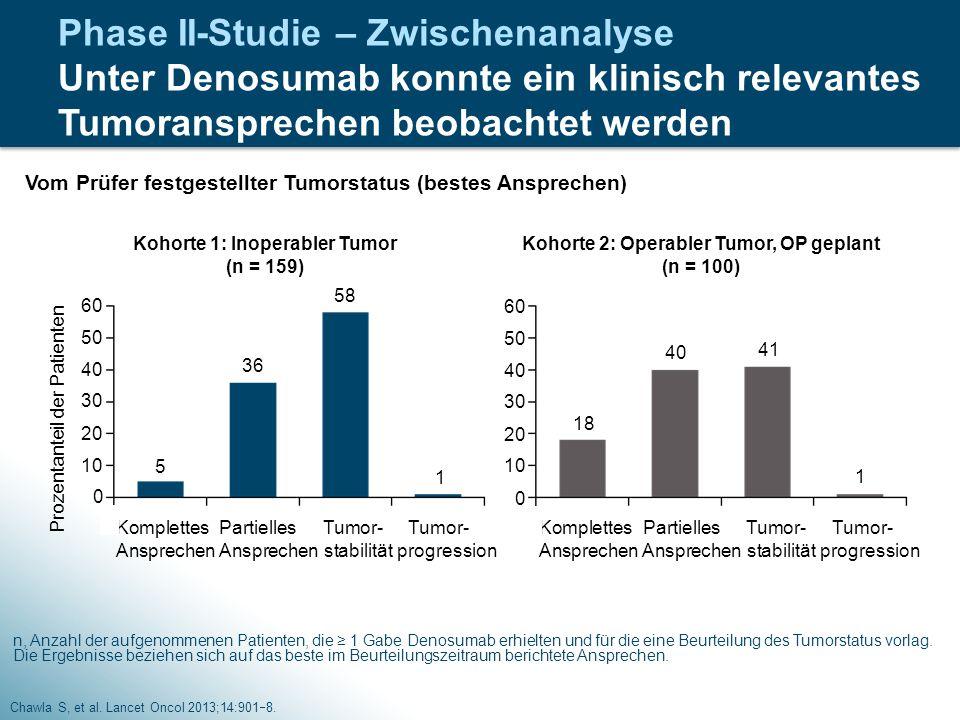 Phase II-Studie – Zwischenanalyse Unter Denosumab konnte ein klinisch relevantes Tumoransprechen beobachtet werden