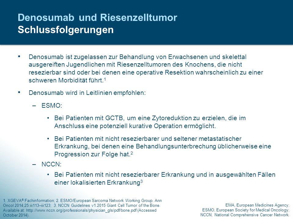Denosumab und Riesenzelltumor Schlussfolgerungen