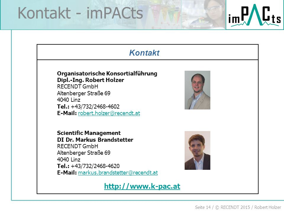 Kontakt - imPACts Kontakt National Partners http://www.k-pac.at