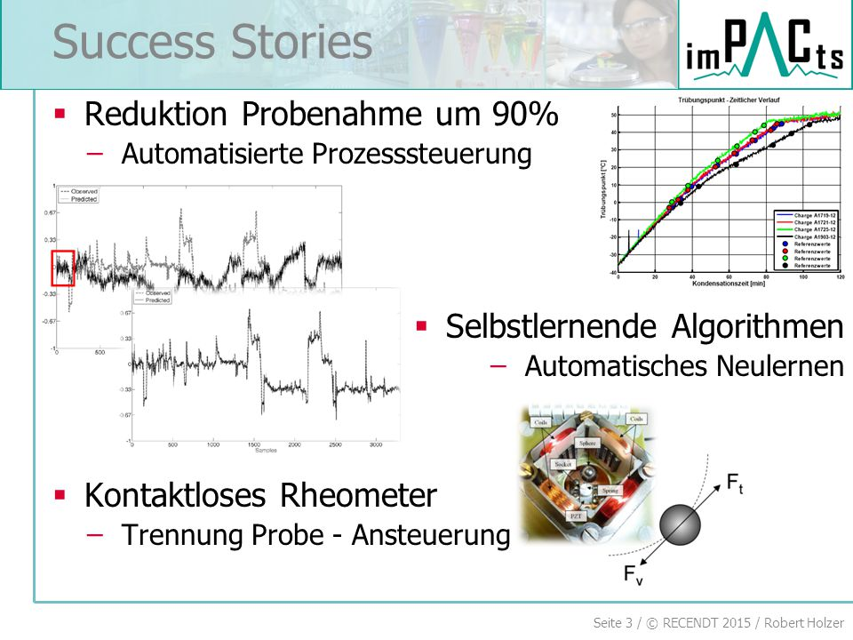 Success Stories Reduktion Probenahme um 90% Selbstlernende Algorithmen