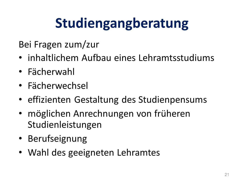 Studiengangberatung Bei Fragen zum/zur