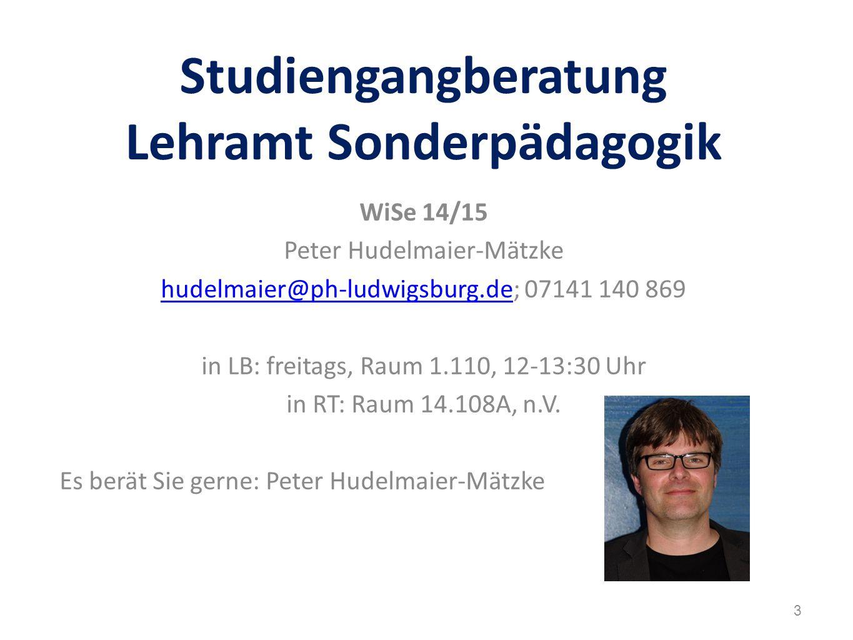Studiengangberatung Lehramt Sonderpädagogik