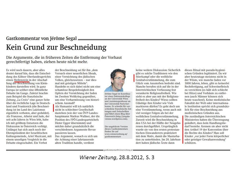Wiener Zeitung, 28.8.2012, S. 3